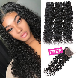 Big wave weaves online shopping - Ishow Hair Big Sales Promotion Buy Bundles Get A Free Closure Brazilian Water Wave Peruvian Human Hair Bundles Free Part