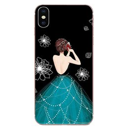 beautiful girl case Canada - Custom Beautiful Girl Rose Heart Drawing TPU For LG K50 Q6 Q7 Q8 Q60 X Power 2 3 Nexus 5 5X V10 V20 V30 V40 Q Stylus