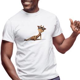 $enCountryForm.capitalKeyWord Australia - YOUTHUP Giraffe Printed T Shirt Summer Short Sleeve Top Shirts Fashion Men's tshirt Unique Design T shirts Male DIY tshirts