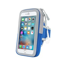 $enCountryForm.capitalKeyWord UK - Sports Phone Bags For iPhone 5 5s SE 6 7 8 Plus Samsung Note 8 Waterproof Card Pocket Tied Armband Riding Runing Fitness Portable Shell