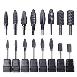 $enCountryForm.capitalKeyWord NZ - 8 Types Black Tungsten Carbide Nail Drill Bits Electric Milling Cutters Manicure Machines Hardware Pedicure Buff Tools TRHG01-08