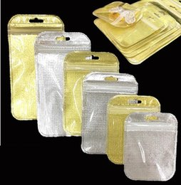 Mini Pe Bags NZ - 50pcs Small Size Mini Zip Lock Bag Plastic PE Gold Silver Self Sealing Storage Bag Jewelry Packing Pouch Clear Resealable