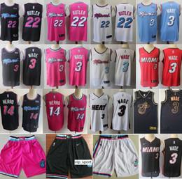 $enCountryForm.capitalKeyWord Australia - Miami Vice Heat Basketball Dwyane Wade Jerseys 3 Jimmy Butler Jersey 22 Tyler Herro 14 City Earned Edition Black White Pink Man Shorts Pant