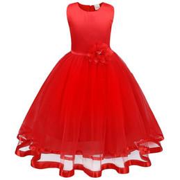 Sheer Flower Dress UK - New Shinning Girls Pageant Dresses Sheer Neck Beaded Crystal Satin Mint Green Flower Girl Gowns Formal Party Dress For Teens Kids lw09