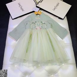 $enCountryForm.capitalKeyWord Australia - Girls dress kids designer clothing autumn classical Chinese style dress stitching fabric skirt fluffy fashion charm elegant dress 19