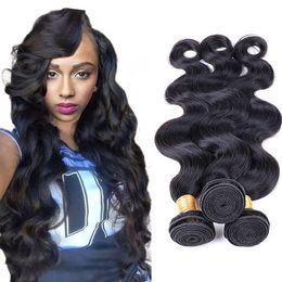 $enCountryForm.capitalKeyWord Australia - Pamina Unprocessed Virgin Malaysian Body Wave Hair Weave Bundles Natural Color 100% Human Hair 3 4 Piece 10-30 inches Remy Hair Extension