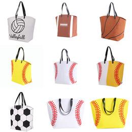 $enCountryForm.capitalKeyWord Australia - 2019 Canvas Bag Baseball Tote Sports Bags Casual Softball Bag Football Soccer Basketball Cotton Canvas Tote Bag 18 color Free DHL