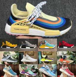 China NEW Human Race nmds Pharrell Williams men women Sports designer Shoes off Black White Grey primeknit PK runner XR1 R1 R2 Sneaker shoes supplier human race new pharrell runner suppliers