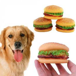 $enCountryForm.capitalKeyWord Australia - Pet Chew Play Toys PVC Hamburger Dog Cat Puppy Training Sound Squeaker Vegetable Chicken Food Toy Squeaky Pets Supplies