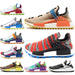 $enCountryForm.capitalKeyWord Australia - Arrive New Human Race Running Shoes Pharrell Williams Core Black Afro Hu Solar Pack Pale Nude Holi Designer Sneakers Men Women Sport Shoes