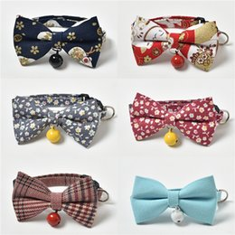 bow harness Canada - Dog Collars Small Dogs Bow Tie Pet Bowknot Collar Puppy Choker Cat Necklace Dog Harness Pet Accessories Supplies 01# #947