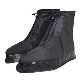 Discount shoes black zipper for men - Shoe Cover For Men Women Rain Boots Waterproof With Thickened  Button Strap Zipper Elastic Bandage