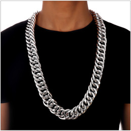 $enCountryForm.capitalKeyWord NZ - Fashion Hip Hop Necklace for Men Women Cuban Link 18K Plated Necklaces Chain European Gold Silver Hiphop Street Dance Thick aluminum Chains