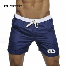quick board NZ - Swim Shorts For Man Beach Wear Bermuda Board Shorts Summer Sexy Surf Mayo Swimwear Bathing Quick Dry Gym Short De Bain Homme C19040801