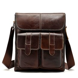 Messenger Bags For Men Leather Australia - Genuine Leather Messenger Bag Men Shoulder Bag Casual Male Briefcases Laptop Computer Leather Bags for Documents