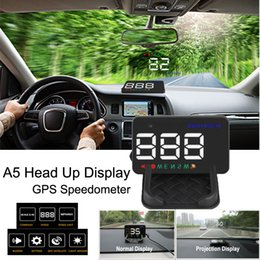 $enCountryForm.capitalKeyWord Australia - A5 Head Up Digital Display GPS Driving Director Display 3.5 Inch Auto Navigation HUD Windshield Projector Electronics For All Cars