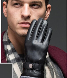 $enCountryForm.capitalKeyWord NZ - Man winter fur classic velvet Thicken Leather Sexy Luxury Driving touch screen gloves soft warm Motorcycle Windproof finger gloves