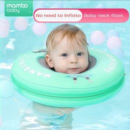 Discount swimming neck float ring - Mambo Baby neck float No need pump air More Safety Swimming Ring Free inflatable collar Cartoon Baby Neck Swimming Ring