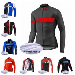 $enCountryForm.capitalKeyWord Australia - GIANT team men style Cycling Winter Thermal Fleece jersey trend hot sale road T-shirt Outdoor Sports Leisure Clothes X62711