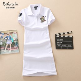 one piece yellow shirt Australia - Baharcelin 2XL 3XL Embroidery Polo Casual Dresses De Festa T Shirt Femme Summer Tops Clothing One piece Dress Ete Vestidos MX200518