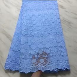 b204db3fb9 tela de algodón tela de encaje francés 2019 encaje suizo voile en suiza  cordón neto de alta calidad para el vestido de boda 5yard   lot