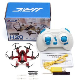 Micro Helicopter Toy Australia - Original JJRC H20 Mini RC Drone Dron Micro Super Bright LED Lights Quadcopters Drones Flying Helicopter Kids Remote Control Toys