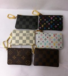 Wholesale Brand New Key Pouch Damier Canvas Holds High Quality Famous Classical Designer Women Key Holder Coin Purse