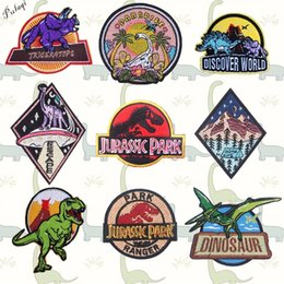clothes t shirt man NZ - Pulaqi Discovery World Dinosaur Patches Iron On Clothes Hat T-shirt Jurassic Park Patch For Men Kids Women Decoration F