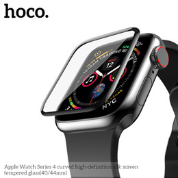$enCountryForm.capitalKeyWord NZ - New Hoco 9h Full Cover Tempered Glass For Iwatch 40mm 44mm 3d Curved Screen Protector For Apple Watch Series 4 Screen Film Band T190620