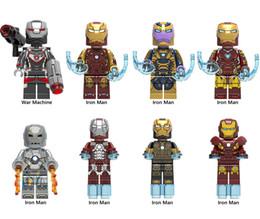 Iron Man Block Figure Australia - Super Heroes MK46 MK85 MK1 MK5 MK7 Iron Man Bricks war machine Model Figures Building Blocks For Kids Toys X0252