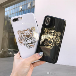 Wholesale New Hot stamping Tiger phone case For iPhone Xs Max Xr Xs plus S plus plus X Mobile phone shell Deliver beautiful packagin