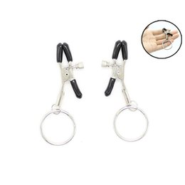 Clamp Sexy Australia - Sexy Exotic SM Metal Ring Appeal Milk Clamp Labyrinth Clip Lace Beads Decorative Nipple Stimulation Bundle Female Appliances