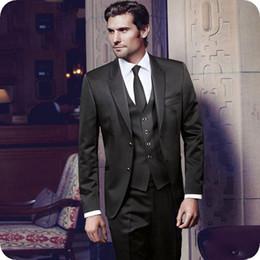 $enCountryForm.capitalKeyWord Australia - Latest Coat Pant Designs Black Men Wedding Suits Skinny Groom Tuxedo Custom Made Man Blazer Groomsmen Wear 3Piece Peaked Lapel Costume Homme