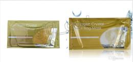 Nails Mask Australia - Newest Collagen Crystal Neck Bag Mask gold white Crystal bag Neck Mask Moisture Essence Top Quality