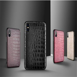 Discount red crocodile iphone case - Hot sale Luxury Design Crocodile PU Soft Leather Phone Case For iPhone X 8 Plus Xs Max XR Crocodile Cases For Samsung ga