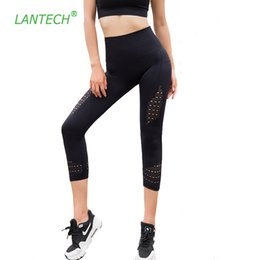 lycra yoga pants NZ - Lantech Yoga Leggings Sports Capri Pants Running Sportswear Stretchy Fitness Hips Push Up Seamless Gym Compression Tights Women C19042001