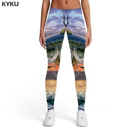 $enCountryForm.capitalKeyWord Australia - KYKU Brand Squid Leggings Women Animal Leggins Fish Sport Tropical Elastic Fishinger Ladies Womens Leggings Pants Casual Slim