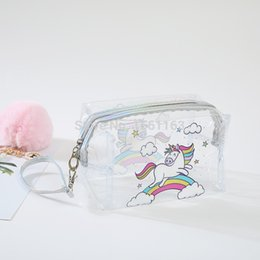 $enCountryForm.capitalKeyWord Australia - Fashion Top Sell Cartoon Unicorn Travel Women Clear Transparent Cosmetic Bag Small Large PVC Necessary Makeup Bag Case