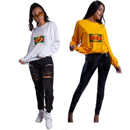 $enCountryForm.capitalKeyWord Australia - Women Designer Hoodies Plus Size Fall Cloting S-2XL Long Sleeve Shirt Loose Tee Top Lady Casual Chotes DHL Free 1080