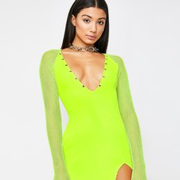 6ee20e667250 neon-green-v-neck-mesh-long-sleeve-patchwork.jpg