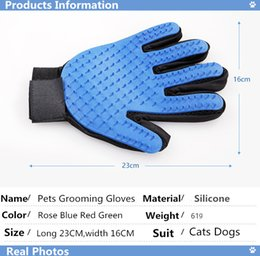 dog grooming tables wholesale NZ - Pet Dog Grooming Glove Comb Soft Silicone Cats Bath Supplier Hair Remover Cleaning Brush Gentle Efficient Massage Pets Product