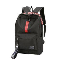 good quality girls school bags 2019 - good quality Female Women Canvas Backpack Letter Zipper Style Lady Girl Student School Bag Mochila Bolsas Large Capacity