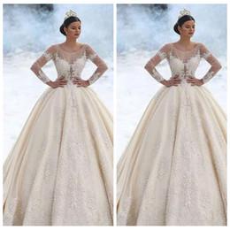 EuropEan modEls lacE drEss online shopping - 2020 Luxurious Beaded Pearls A Line Wedding Dresses Bridal Gowns Beaded Peals European Fashion Marriage Garden Chapel Train Vestidos