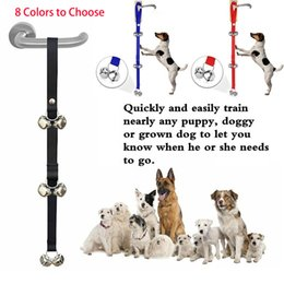 Alarms For Houses Australia - 6 Bells 7 Bells Doorbells for Pet House Training Housebreaking Click Alarm Dog Rope Stainless Steel Bells Guide Dog Rope for Pet