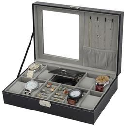 Cuero de la PU Reloj Joyero Caja de almacenamiento de alta gama Organizador Caja Para Reloj Jewery Ornamento Cofre Contenedor Cajas Portátil en venta