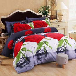 $enCountryForm.capitalKeyWord NZ - MENGZIQI3D Rose Bedding Sets Fashion Bed Comforters Sets King Size Bedding Sets Four Piece Suit Bedspread And Quilt Set For Home Textile