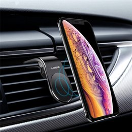 Wholesale LOVEME Magnetic Car Phone Holder For Phone in Car L Shape Air Vent Mount Stand Magnet Mobile Holder For Iphone X Samsung S9
