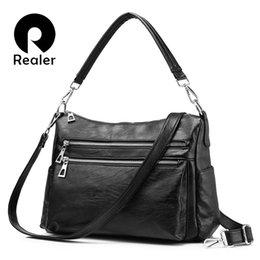 D cells online shopping - REALER shoulder bags designer handbags high quality crossbody bags for women messenger bags have multiple pockets for business