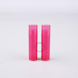 Packaging For Lipstick Australia - Wholesale Makeup Tool For Women 100 x 5gram Plastic Lip Balm Tube Red Lipstick Bottle 5cc Lip Balm Stick Packaging Free Shipping