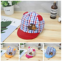 Wholesale Baby Boy Hats Striped Soft Cotton Sunhat Eaves Baseball Cap Sun Hat Beret Party Hats
